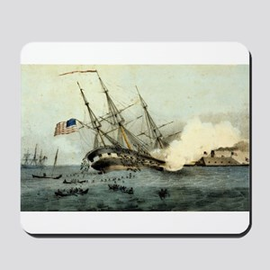 The sinking of the Cumberland by the iron clad Mer
