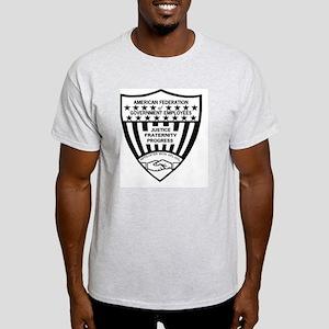 AFGE-ShieldBlackAndWhite Light T-Shirt