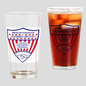 AFGELogoShieldGifB Drinking Glass