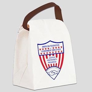 AFGELogoShieldGifB Canvas Lunch Bag