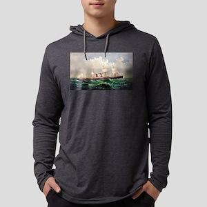 The Steamship Oregon - 1844 Mens Hooded Shirt