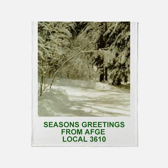AFGE-Local3610Greeting CardInterior. Throw Blanket