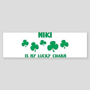 Niki is my lucky charm Bumper Sticker