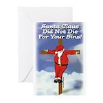 Santa Cross Greeting Cards (Pk of 10)