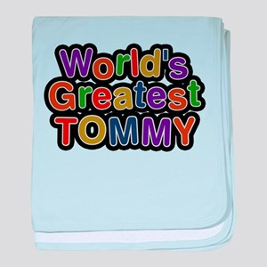 Worlds Greatest Tommy baby blanket
