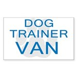 Dog Trainer Van Rectangle Sticker