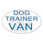 Dog Trainer Van Oval Sticker