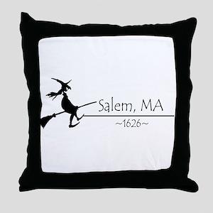 Salem, MA 1626 Throw Pillow