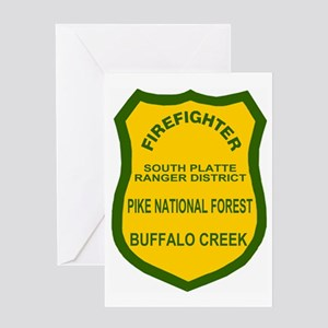 ForestServiceDamonBadge Greeting Card