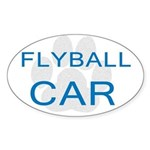 Flyball Car Oval Sticker