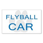 Flyball Car Rectangle Sticker