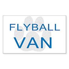 Flyball Van Rectangle Sticker
