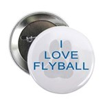 I Love Flyball Button