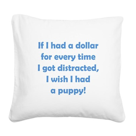 If I had a Dollar Square Canvas Pillow