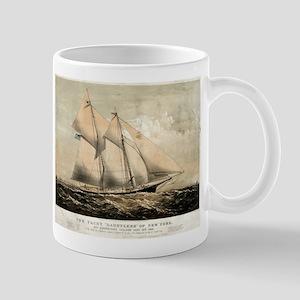 The yacht Dauntless of New York - 1869 11 oz Ceram