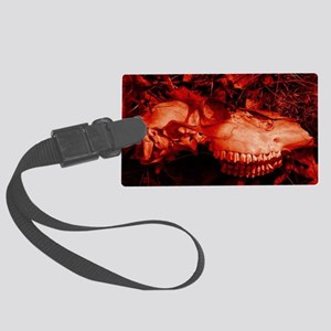 Red Skull Large Luggage Tag