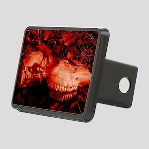Red Skull Rectangular Hitch Cover