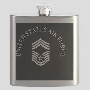 USAFChiefMasterSergeantBlackCap Flask