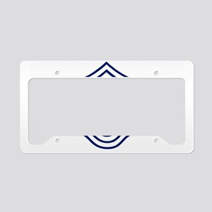USAFChiefMasterSergeantBlueCa License Plate Holder