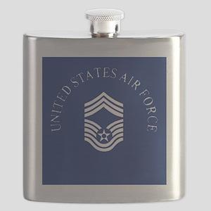 USAFChiefMasterSergeantClock Flask