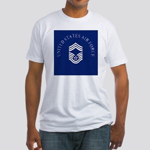 USAFChiefMasterSergeantClock Fitted T-Shirt