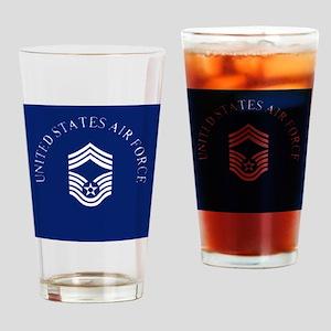 USAFChiefMasterSergeantClock Drinking Glass