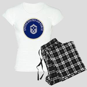 USAFFirstSergeantE8CapCrest Women's Light Pajamas