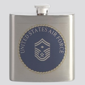 USAFFirstSergeantE8CapCrest Flask