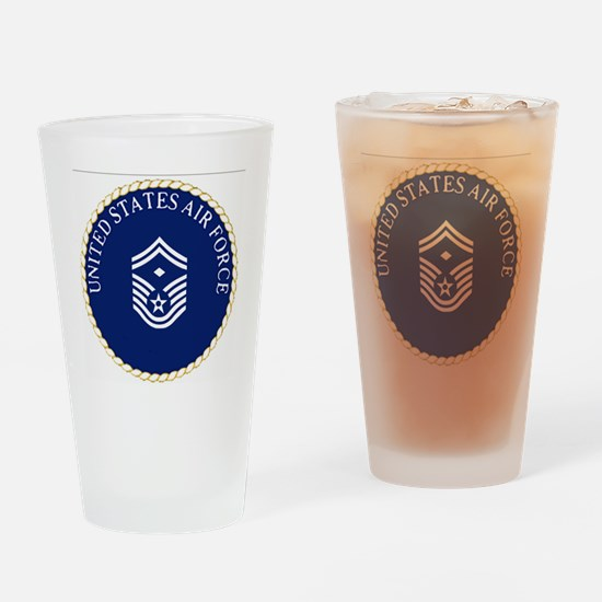 USAFFirstSergeantE8CapCrest.gif Drinking Glass