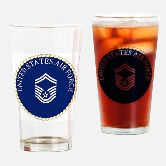 USAFSeniorMasterSergeantCapCrest.gi Drinking Glass