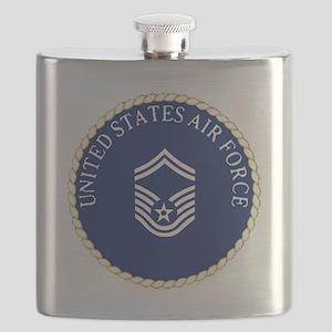 USAFSeniorMasterSergeantCapCrest Flask