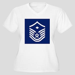 USAFFirstSergeant Women's Plus Size V-Neck T-Shirt
