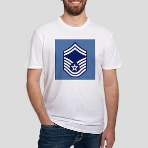 USAFSeniorMasterSergeantCoaster Fitted T-Shirt