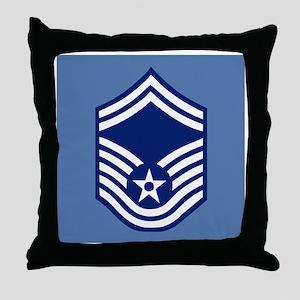 USAFSeniorMasterSergeantCoaster Throw Pillow