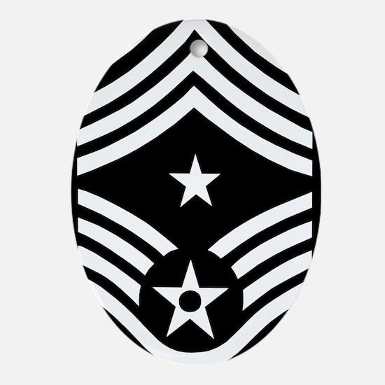 USAFCommandChiefMasterSergeantBlackM Oval Ornament