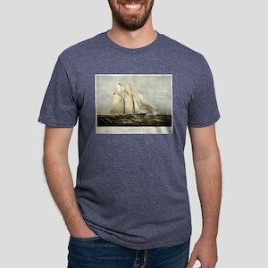 The yacht Meteor - 1869 Mens Tri-blend T-Shirt