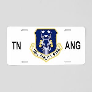 ANGTenn118thAWBlackMeshCap. Aluminum License Plate