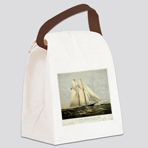 The yacht Meteor - 1869 Canvas Lunch Bag
