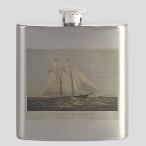 The yacht Meteor - 1869 Flask