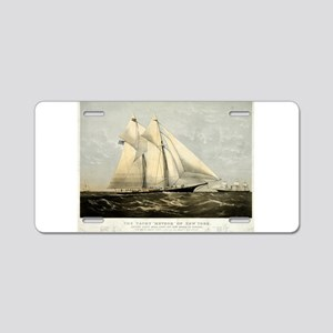 The yacht Meteor - 1869 Aluminum License Plate