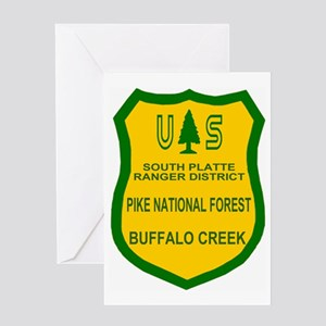 ForestServicePikeNFBadge Greeting Card