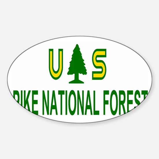 ForestServicePikeForestCap.gif Sticker (Oval)