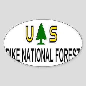 ForestServicePikeForestTruckerCap.g Sticker (Oval)