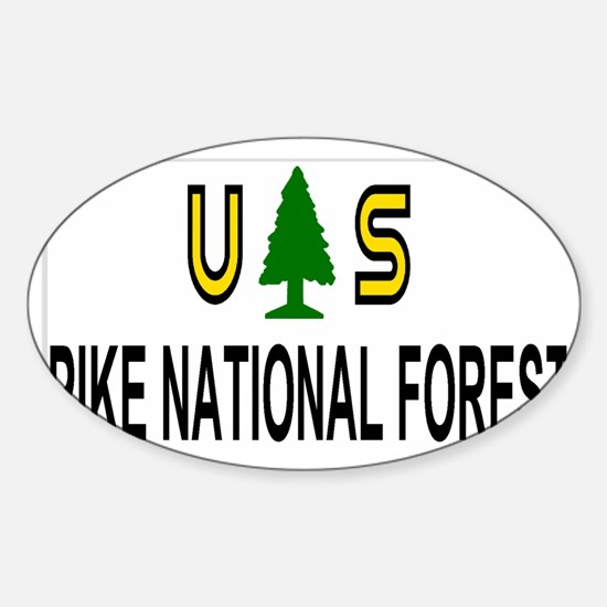 ForestServicePikeForestTruckerCap.g Sticker (Oval)