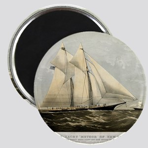 The yacht Meteor - 1869 Magnet