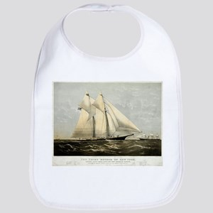 The yacht Meteor - 1869 Cotton Baby Bib