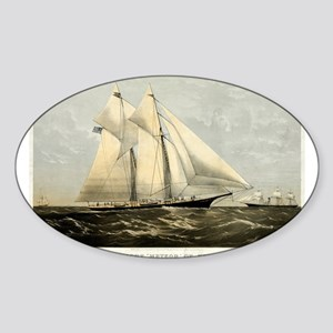 The yacht Meteor - 1869 Sticker (Oval)