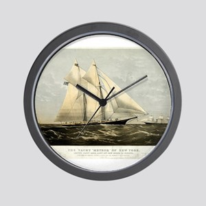 The yacht Meteor - 1869 Wall Clock