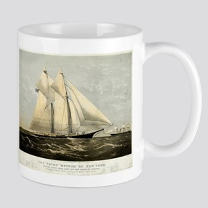 The yacht Meteor - 1869 11 oz Ceramic Mug