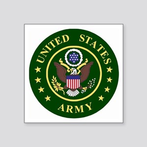 "ArmyLogoToMatchStripes2 Square Sticker 3"" x 3"""